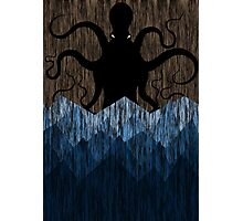 Cthulhu's sea of madness - Brown Photographic Print