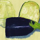 Sliced aubergine by Simon Rudd