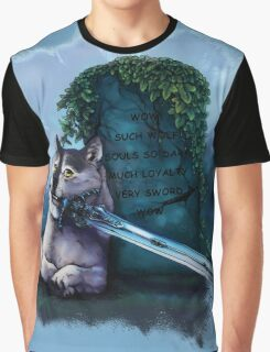 Great Grey Doge Sif Graphic T-Shirt