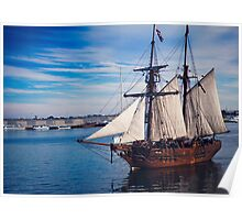 Enterprize Tall Ship Poster