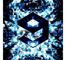 9GAG Electrifying blue sparkly triangle flames Photographic Print