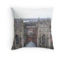 York Minster Towers over the City Throw Pillow