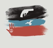 Guns and Peace - T-Shirt by Denis Marsili