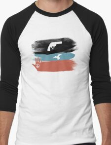 Guns and Peace - T-Shirt Men's Baseball ¾ T-Shirt