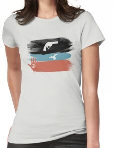 Guns and Peace - T-Shirt Womens Fitted T-Shirt