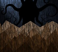 Cthulhu's mountains of madness - blue by Ednathum