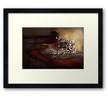 Steampunk - A crusty old typewriter Framed Print