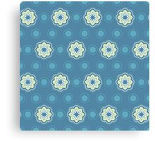 Pattern in circles, dot and flowers Canvas Print