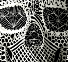 Lace Skull Sticker