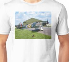 Hawker Hurricane IIc PZ865 JU-Q ready to roll. Unisex T-Shirt