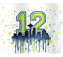 Seattle 12th Man Art for Seahwks Poster