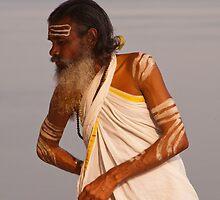 Varanasi Pilgrim by Clive S