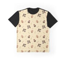 Cute Rogue Party Pattern Graphic T-Shirt