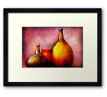 Bar - Bottles - A still life of bottles Framed Print