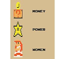 Super Mario Money Power Women Photographic Print