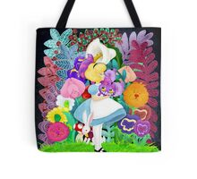 Alice and the flowers  Tote Bag