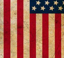 Vintage Grunge American Flag Sticker