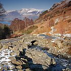 Melting snow at Ashness Bridge, Derwentwater by Martin Lawrence