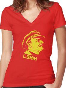 Vintage Lenin Women's Fitted V-Neck T-Shirt