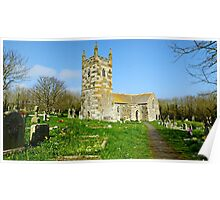 """"""" Englands most southerly Church"""" Poster"""