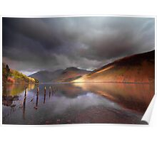 Low light on Wast Water Poster