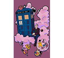 Ninth Doctor and Tardis Photographic Print