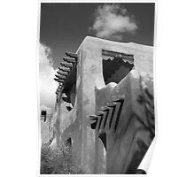 Santa Fe Adobe Building Poster