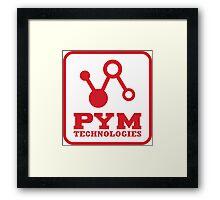 Pym Tech Red Logo Framed Print