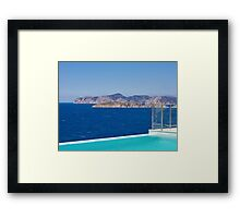 Infinity pool overlooking the Mediterranean Sea Framed Print