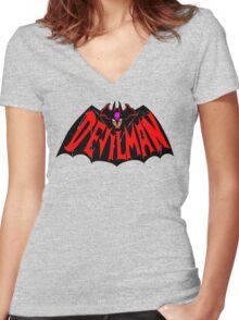 Beware, the (Goddamn) Devilman! Women's Fitted V-Neck T-Shirt