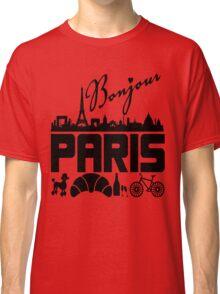 Bonjour Paris France Classic T-Shirt