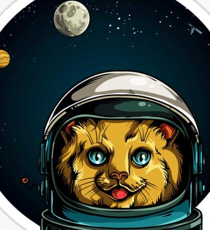 Space Kitty Astronaut Cat  Sticker