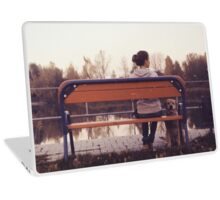 Retro Photo - Girl with a dog Laptop Skin