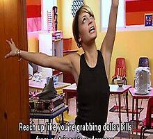 Grabbing dollar bills from a stripper's underwear by thesaratonin
