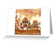 Rusty Robots I Greeting Card