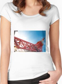 Tokyo tower Women's Fitted Scoop T-Shirt