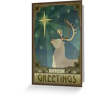 The Stag and the Star Greeting Card
