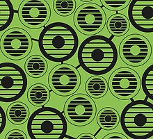 Retro pattern with circles, geometric, abstract by alijun