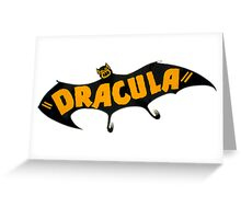 Vintage 1938 Dracula Bat Greeting Card