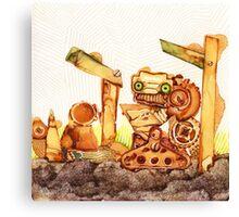 Rusty Robots II Canvas Print