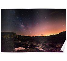 Bridge Under The Milky Way Poster
