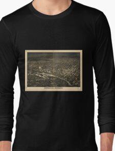 Panoramic Maps Minneapolis Minnesota Long Sleeve T-Shirt