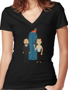 'Die Hard' tribute Women's Fitted V-Neck T-Shirt