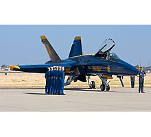 Blue Angels - Pre Take Off Ceremonies Photographic Print