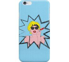 Lady Gaga Pop Art Pow! iPhone Case/Skin
