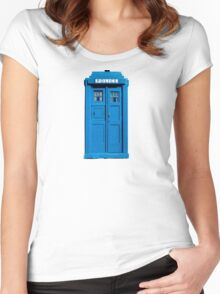 Traditional UK Police Box Women's Fitted Scoop T-Shirt