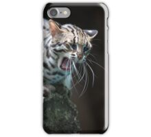 Angry leopard cat saying meow iPhone Case/Skin