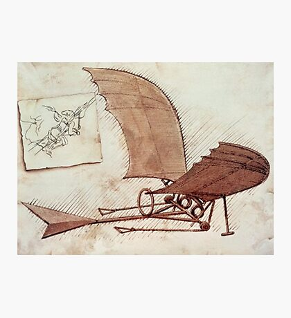 Da Vinci's flying machine Photographic Print