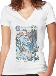 Anderson Family Portrait Women's Fitted V-Neck T-Shirt