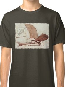 Da Vinci's flying machine Classic T-Shirt